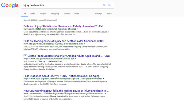 Google Search With Fall Results
